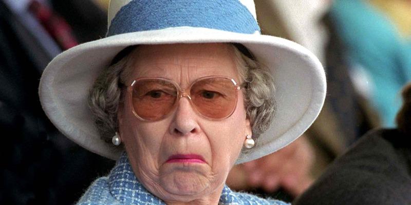The Queen looking askance