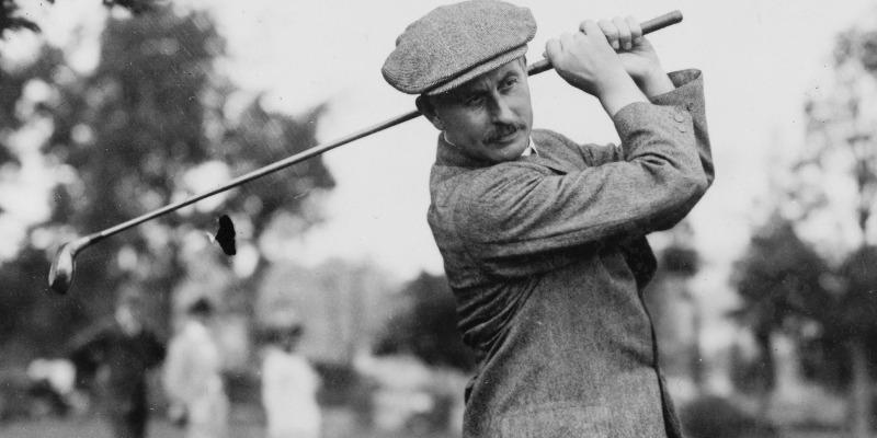 Harry Vardon playing golf